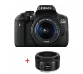 Canon EOS 750D LOW LIGHT KIT (EF-S 18-55 IS STM + EF 50mm f/1.8 STM) + DSLR ENTRY Accessory Kit (SD8GB/BAG/LC)