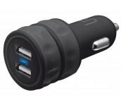 TRUST UR Dual Smartphone Car Charger - black