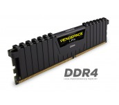 Памет Corsair DDR4, 3000MHz 16GB (2 x 8GB) 288 DIMM, Unbuffered, 15-17-17-35, Vengeance LPX Black Heat spreader, 1.35V, XMP 2.0, Supports 6th Intel® Core™ i5/i7