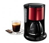Tefal CM370811, Subito 4, Coffee machine, 1.25l capacity, 10/15 cups, black/red