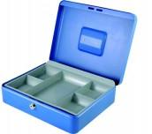 КУТИЯ ЗА БАНКНОТИ И МОНЕТИ CASH BOX СИН 30X24X9 CASH BOX30