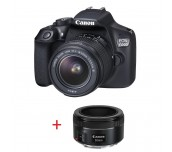 Canon EOS 1300D + EF-s 18-55 mm DC III + EF 50mm f/1.8 STM + DSLR ENTRY Accessory Kit (SD8GB/BAG/LC)