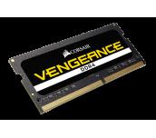 Памет Corsair DDR4, 2400MHz 16GB (2 x 8GB) 260 SODIMM, Unbuffered,16-16-16-39, Black PCB, 1.2V, Intel 6th Generation Intel Core™ i5 and i7 Processor supports