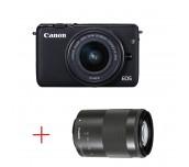 Canon EOS M10 black + EF-M 15-45mm IS STM + EF-M 55-200mm f/4.5-6.3 IS STM