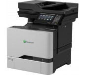 Color Laser Multifunctional Lexmark CX725dhe - 4in1; Duplex; A4; 1200 x 1200 dpi; 4800 CQ; 47 ppm; 2048 MB; HDD, RADF; capacity: 650 sheets; USB 2.0; Gigabit Ethernet (10/100/1000);  7'' colour touch screen