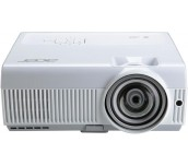 Projector Acer S1213Hne, DLP® 3D Ready, Short-Throw, Resolution: XGA (1024x768), Format: 4:3, Contrast: 17 000:1, Brightness: 3 000 lumens, Input: HDMI®, 2xD-sub, RCA, S-video, 2xAudio In, L/R audio, Output: D-sub, Audio Out, Acer ColorSafe II, Acer Smart