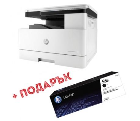 Лазерно МФУ HP A3 LaserJet M436dn + подарък  два консуматива 56X CF256X (2x13700 pages)